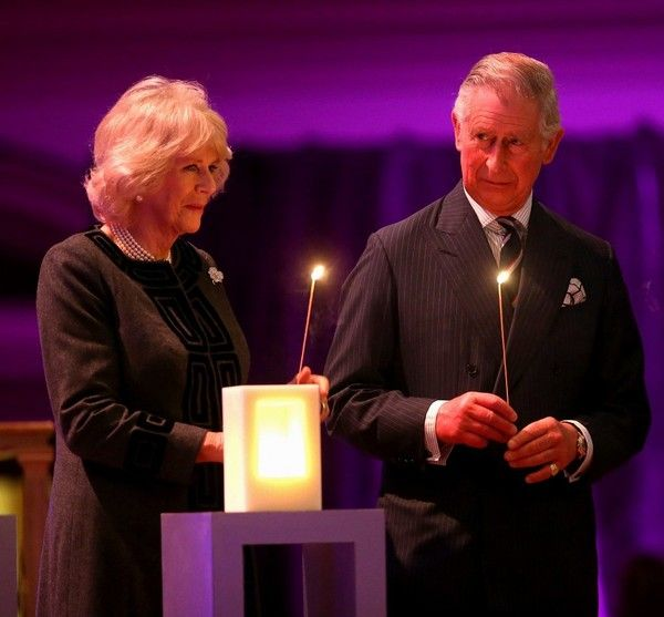 Prince Charles and Camilla Parker Bowles attend a Holocaust Memorial Day Ceremony. 27 Jan 2015