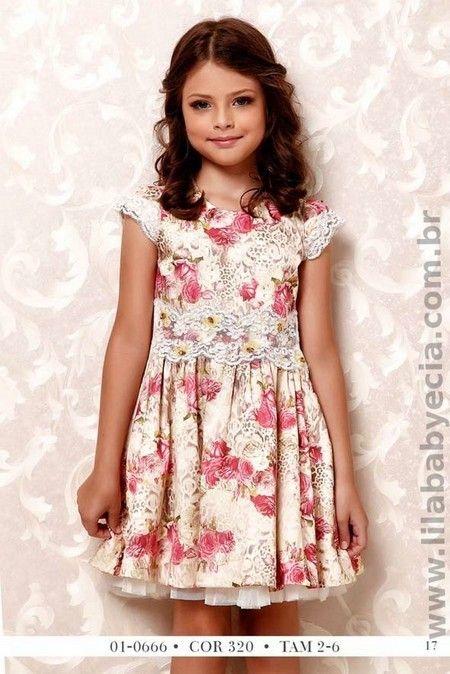 Vestido Infantil Estampado Diforini Moda Infanto Juvenil 010666