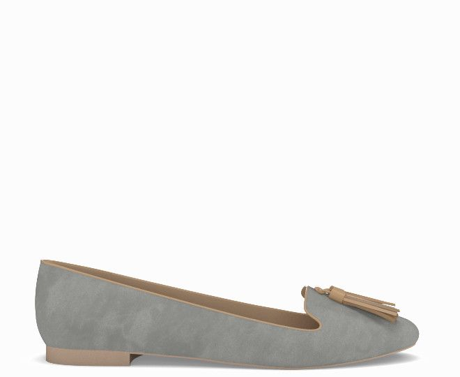 82b60ddb4a5 Lotto 0 in misty grey suede and camel nappa leather - make with ...