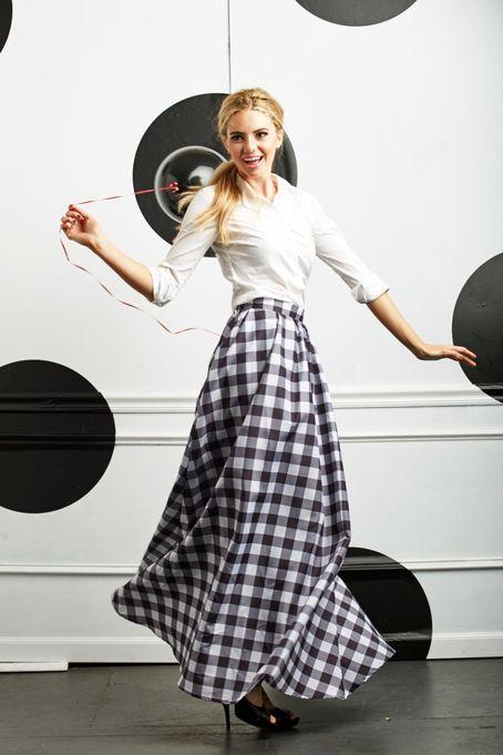 Pretty in Plaid Maxi Skirt by Shabby Apple