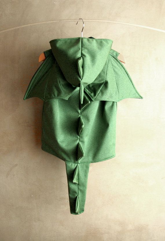 Green Dragon Costume with wings Toddler Boy Halloween by PABUITA
