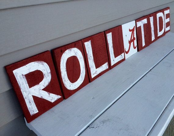 Roll Tide Letters Roll Tide decor Alabama Crimson by SignUpNow