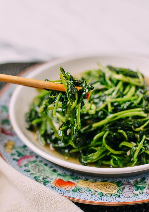 Stir Fried Watercress Chinese Style The Woks Of Life Recipe Watercress Recipes Vegetable Recipes Asian Vegetables