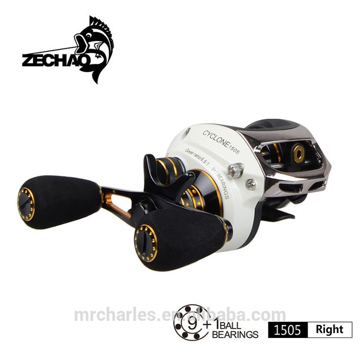 cyclone 9BB+RB White + Gold bait casting fishing reel bearing