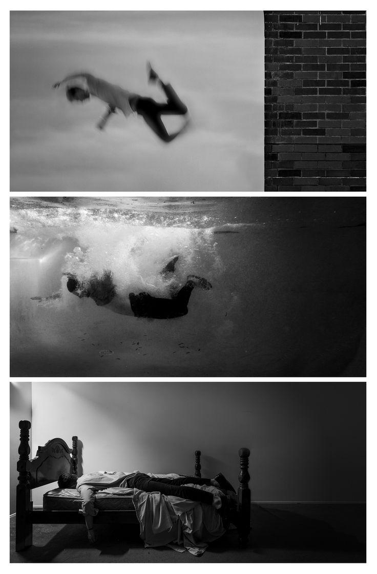 The depression portfolio - triptych by Edward Honaker