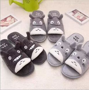 Aliexpress.com : Buy Cute My Neighbor Totoro Cartoon Open Toe Warm Slippers Autumn Winter Slippers Home Slippers Indoor Retail from Reliable slipper production suppliers on House of Novelty  | Alibaba Group