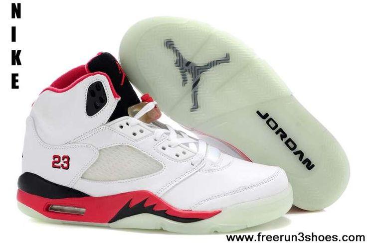 Latest Listing White Red Black Air Jordan 5 Glow In The Dark | Nike Free Run 3 Shoes | Pinterest | Red Black, Air Jordans and Jordans