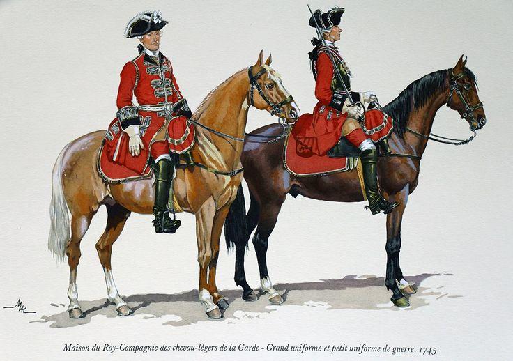 Chevau-légers - 1745 - M. Dugué Mc  Carthy