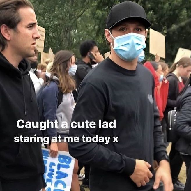 Niall At Protest For Blm In London Niall Horan Five Guys James Horan