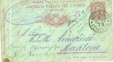 1889 MILANO Società Sericola Francese Seme e bachi *Cartolina FP VG