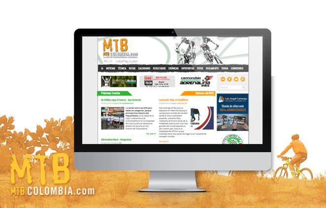Diseño de Página Web MTB Colombia implementado en CMS Joomla