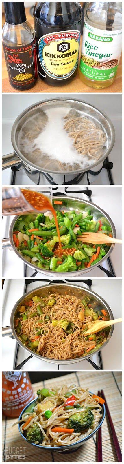 Teriyaki Noodle Bowls - kiss recipe