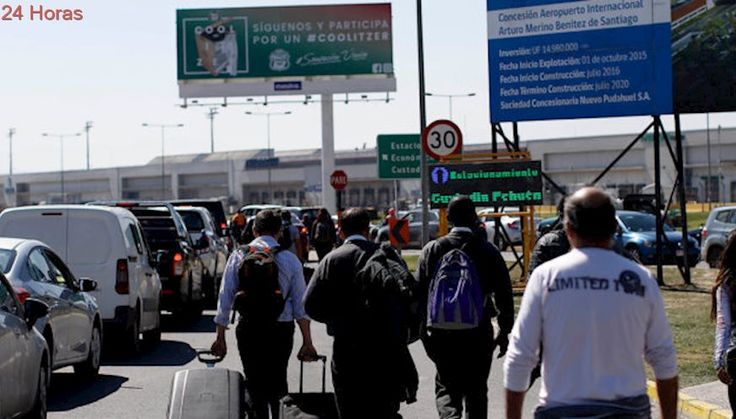 Aeropuerto de Pudahuel informa retraso de vuelos producto del bloqueo de taxistas