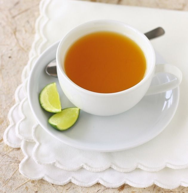 Turmeric tea - A great beauty detox tea. You can use fresh tumeric or ground.