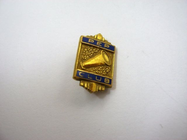 Vintage Collectible Pin: High School Pep Club Great Design | eBay