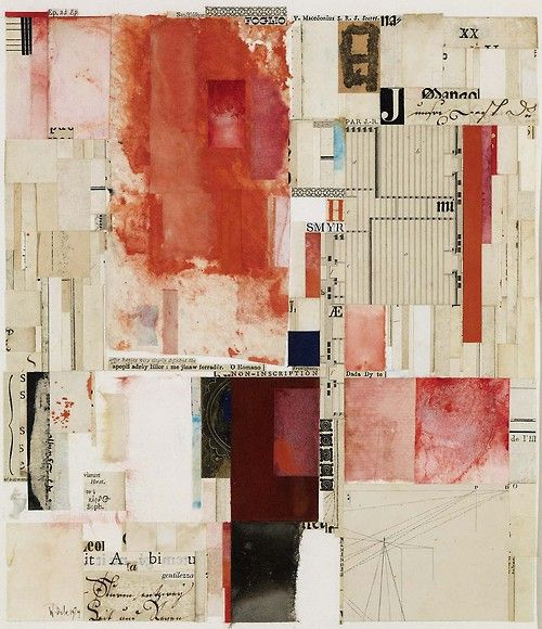 "William Dole, ""Chaunt"", 1974, collage on paper"