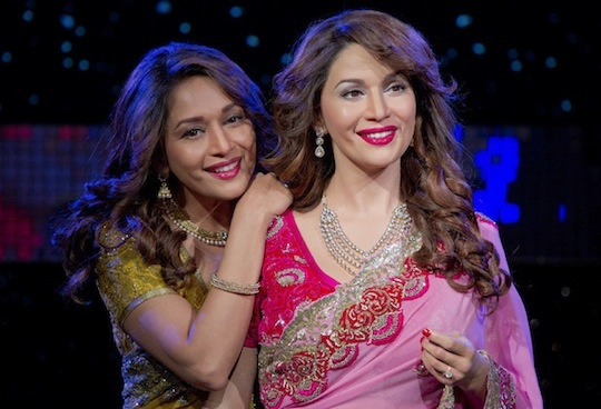 Madhuri Dixit unveiled her new wax figure at Madame Tussauds in London.