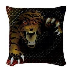tiger_rings_4 Woven Throw Pillow    From Grayson Art Prints at CafePress
