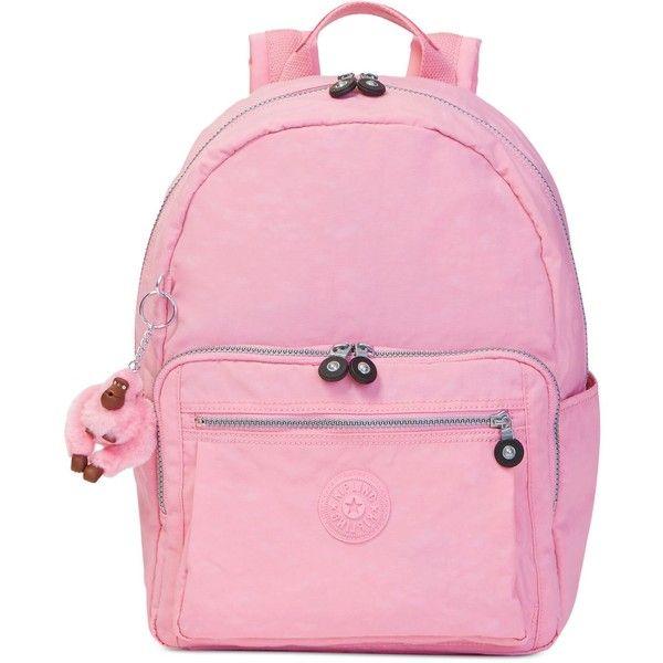 Kipling Bern Backpack ($109) ❤ liked on Polyvore featuring bags, backpacks, scallop pink, kipling rucksack, backpack bags, strap bag, day pack backpack and kipling bags