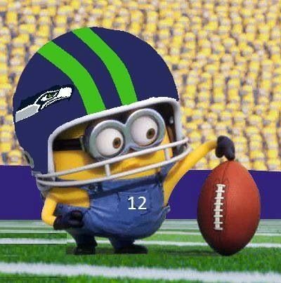 Seahawks minion, OMG obsessed! LOL! Thank you Seahawks for makin my morning and beating the North Carolina panthers...nobody cares North Carolina! LMFAO