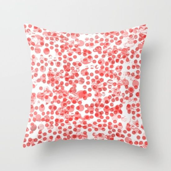 Cherry Polka Dots Distressed pillow