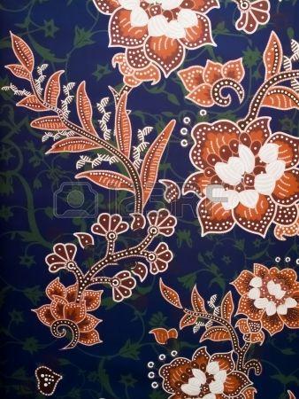 an asian batik abstract detail