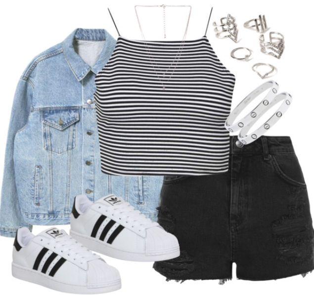 Everyday casual   spring 2015   Grunge   Adidas superstar