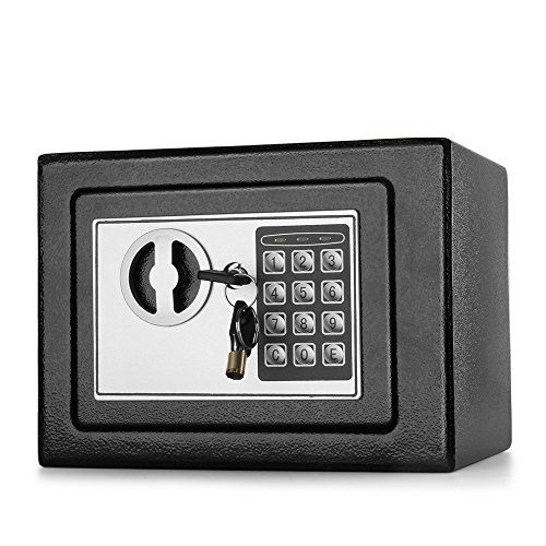 Flexzion Digital Safe Box 9.5' Electronic Keypad Lock Security Gun Cash Jewelry Passport Valuable Cabinet For Home Office Hotel with 2 Keys Fit Anywhere - http://safescenter.com/flexzion-digital-safe-box-9-5-electronic-keypad-lock-security-gun-cash-jewelry-passport-valuable-cabinet-home-office-hotel-2-keys-fit-anywhere/
