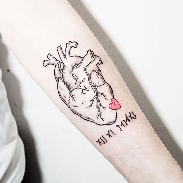 Vistoso La Anatomía Del Corazón Del Tatuaje Inspiración - Anatomía ...