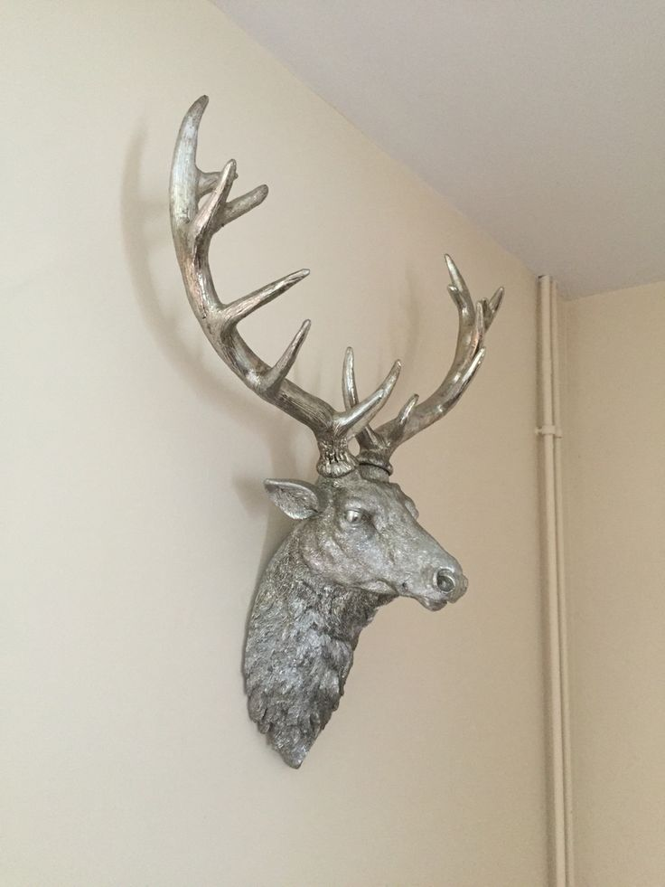 Stanley the stag wall art. #staghead #silverwallart #wallart