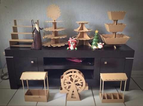Bases para postres cart n o madera manualidades for Como hacer un bar de madera