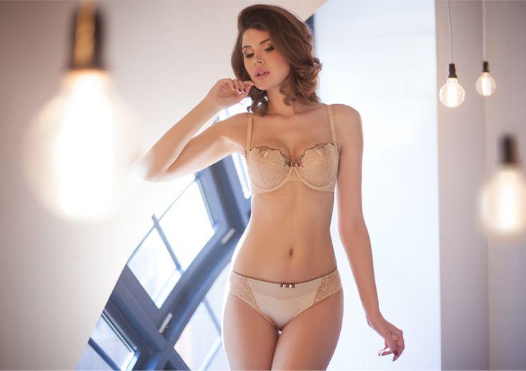 Samanta lingerie - New collection Beige Passy bra: A122 pants: B400 www.samanta.eu