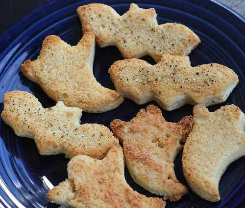 croutons - these would be great with small glasses of soup for halloween/ bonfire night parties.