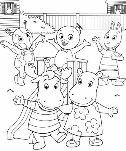 backyardigans coloring pages - Backyardigans Coloring Pages Print