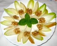 Belgium Endive Pear Walnut salad