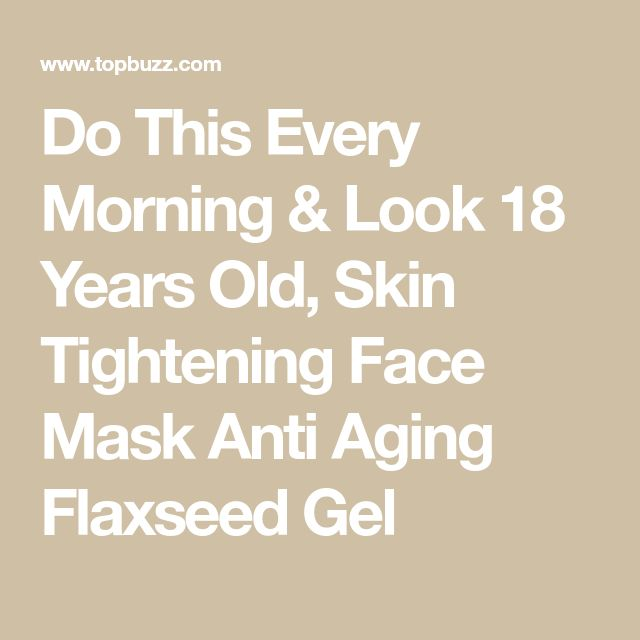 Do This Every Morning & Look 18 Years Old, Skin Tightening Face Mask Anti Aging …
