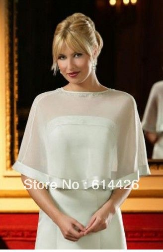 custom made any size any colour fashion party wedding bridal chiffon jacket wrap Shawl Cape Stole Bolero retail and wholesale