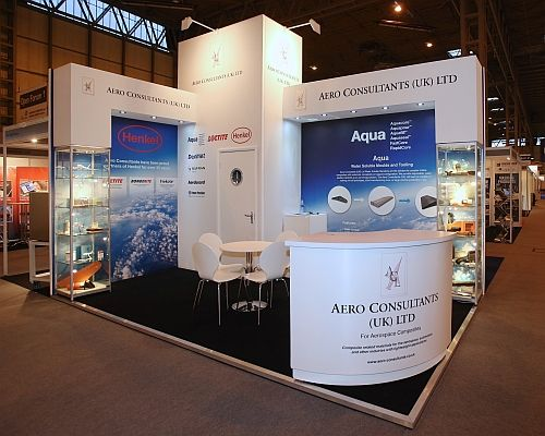 Really pleased with the Aero Consultants stand we built at the Aero Engineering Show at #thenec #Aerospace.