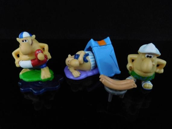 Vintage Toys, Sammlerstück, Beach Nose Club Holiday, komplette Serie von 10 Figuren, KINDER Überraschungsfiguren / / Fun Cake Topper, Beach FUN   – kinder коллекшн