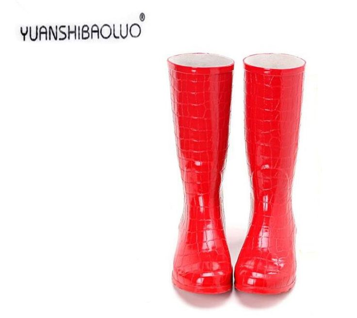 37.90$  Buy now - http://aliext.shopchina.info/go.php?t=32767723595 - Rubber Boots For Women 2016 Spring Autumn Rain boots Walking Outdoor Hunting Waterproof Calf Martins Rainboots Plus Size 41 37.90$ #magazine