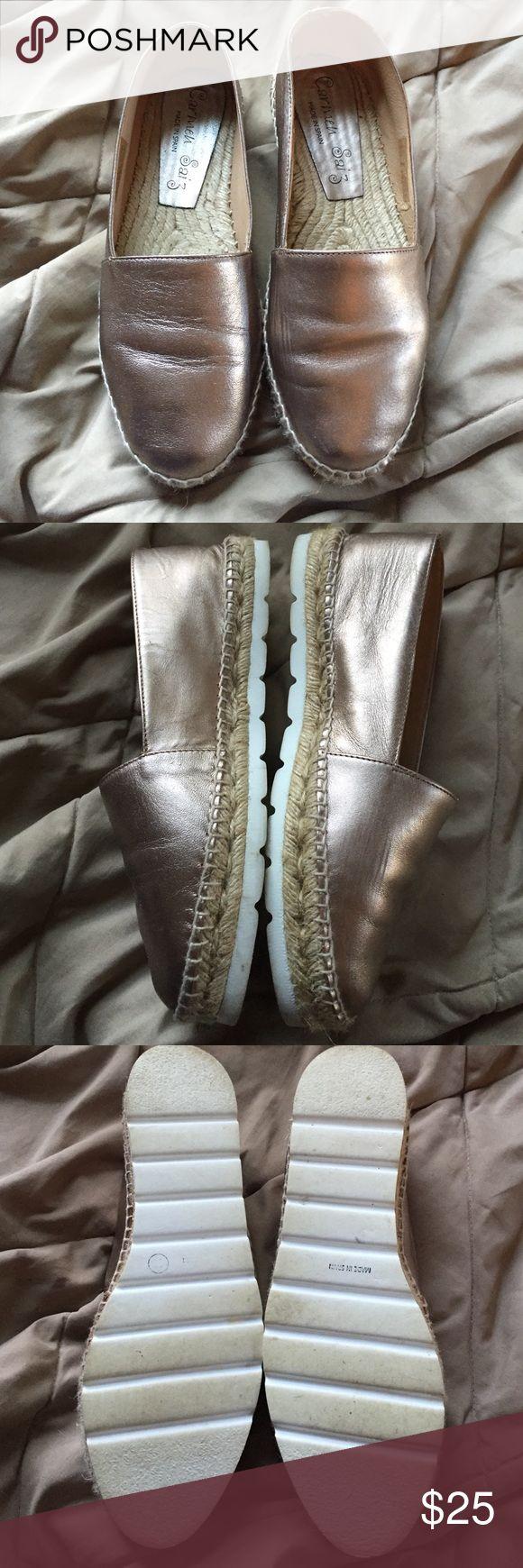 Carmen Saiz gold espadrilles. Worn once Carmen Saiz gold espadrilles. Worn once. Absolutely gorgeous comfy shoes Carmen Saiz Shoes Espadrilles