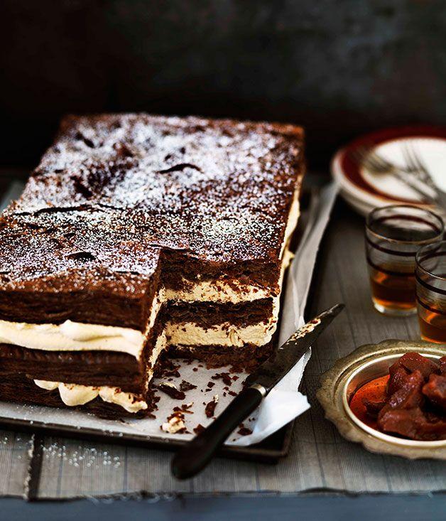 Σοκολατενιο Μιλφειγ με Κρεμα Λευκης Σοκολατας - ΙΔΕΑ. Chocolate millefeuille with burnt white chocolate cream - Gourmet Traveller