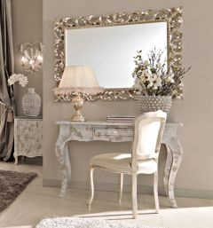 Paris Collection silver desk and chair set