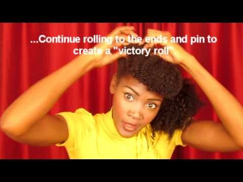 Video: how to style Faux Bangs & Victory Rolls