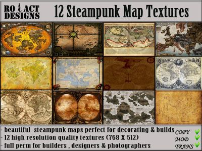 Ro!Act Designs 12 Steampunk Map Textures