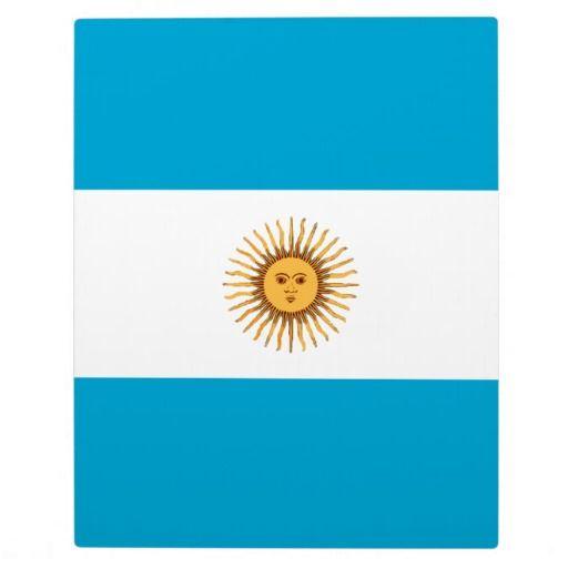 Argentina flag display plaque