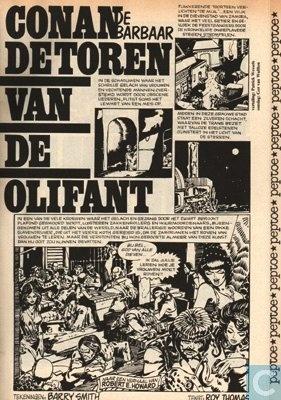 Conan de Barbaar ~ De Toren van de Olifant  Peptoe 36-1974