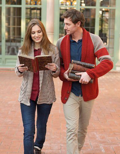 Big Merino | Book Woman Basics 9 Autumn / Winter | 33: Man Jacket | Rust / Medium grey