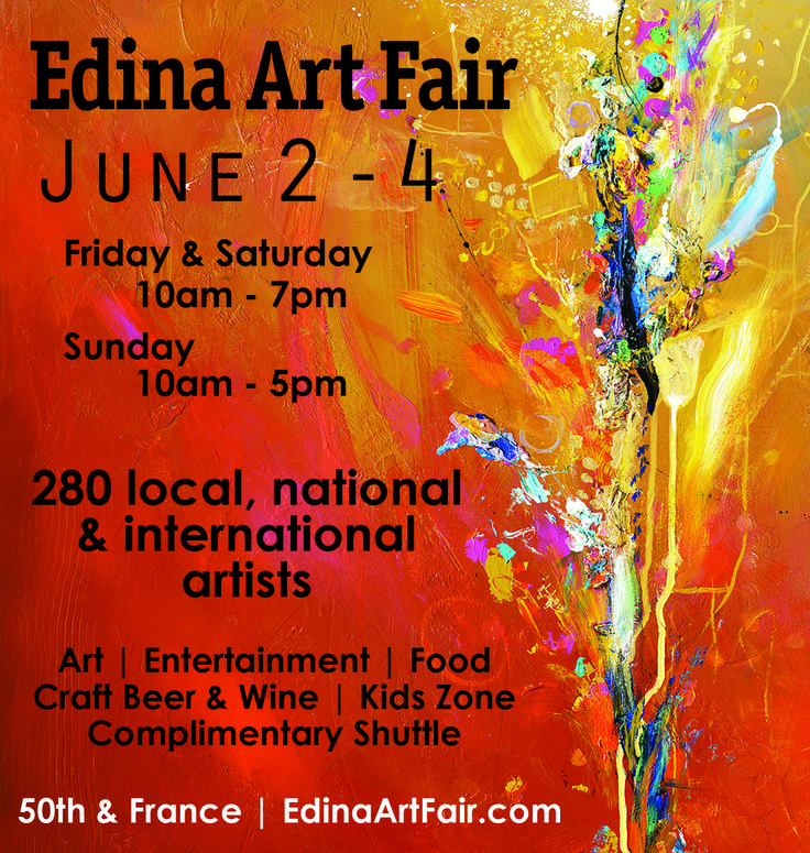 The Edina Art Fair at #50thandfrance is filled with some of the best artists in the country. Edina Art Fair is the top art fair in Minnesota.