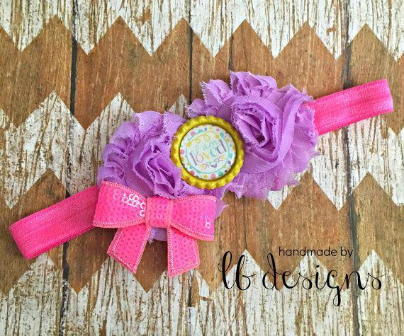 Baby Toddler headband Shabby headband by HandmadeByLBDesigns